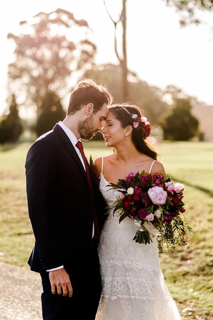 Rustic Outdoor Wedding in Berry Hues