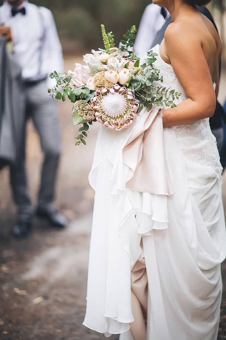 Silver and navy outdoor cocktail wedding