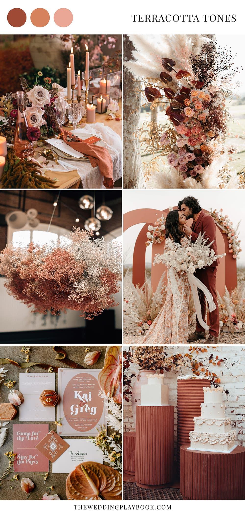 Romantic Boho Terracotta Wedding Ideas