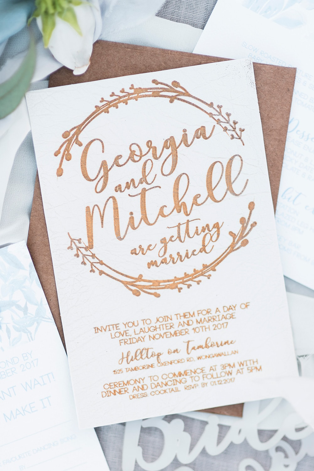 The Rustic at Heart | Event Stationery & Signage Australia Wide