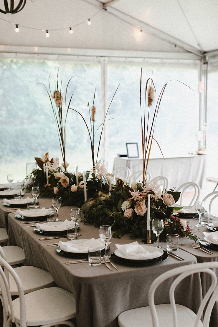 Romantic estate wedding in grey and blush | Dean Snushall Photography