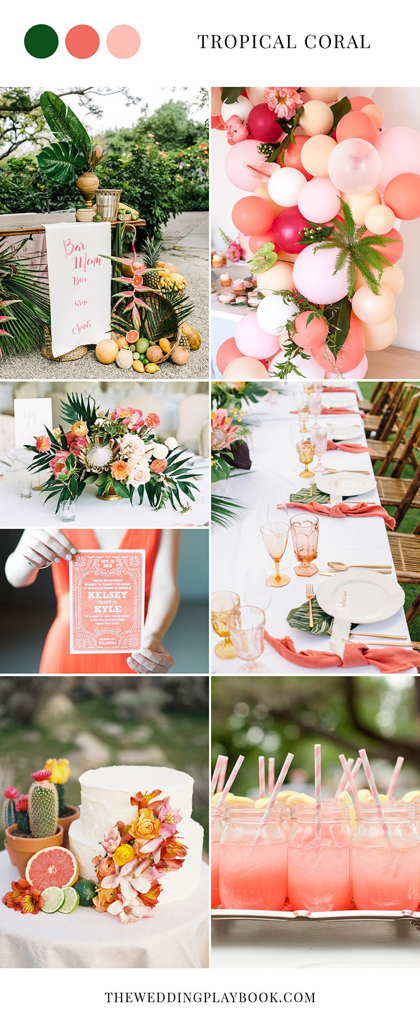 Tropical Coral Wedding Inspiration