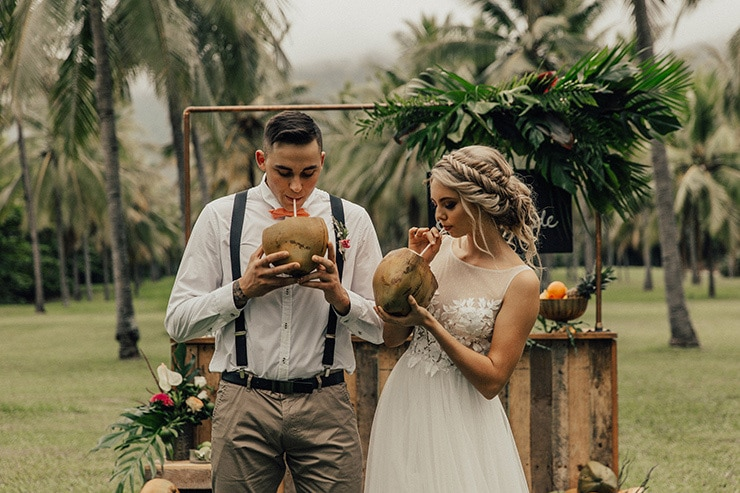 Tropical Picnic Elopement Inspiration