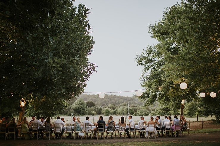 Tuscan Inspired Long Table Wedding | Nectarine Photography
