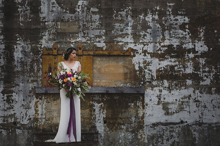 Tuscan-Plum-Wedding-Inspiration-Bride-Bouquet