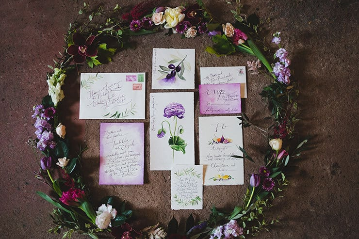 Tuscan-Plum-Wedding-Inspiration-Invitation-Suite-2
