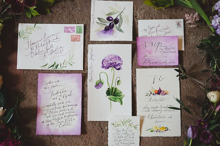 Tuscan-Plum-Wedding-Inspiration-Invitation-Suite