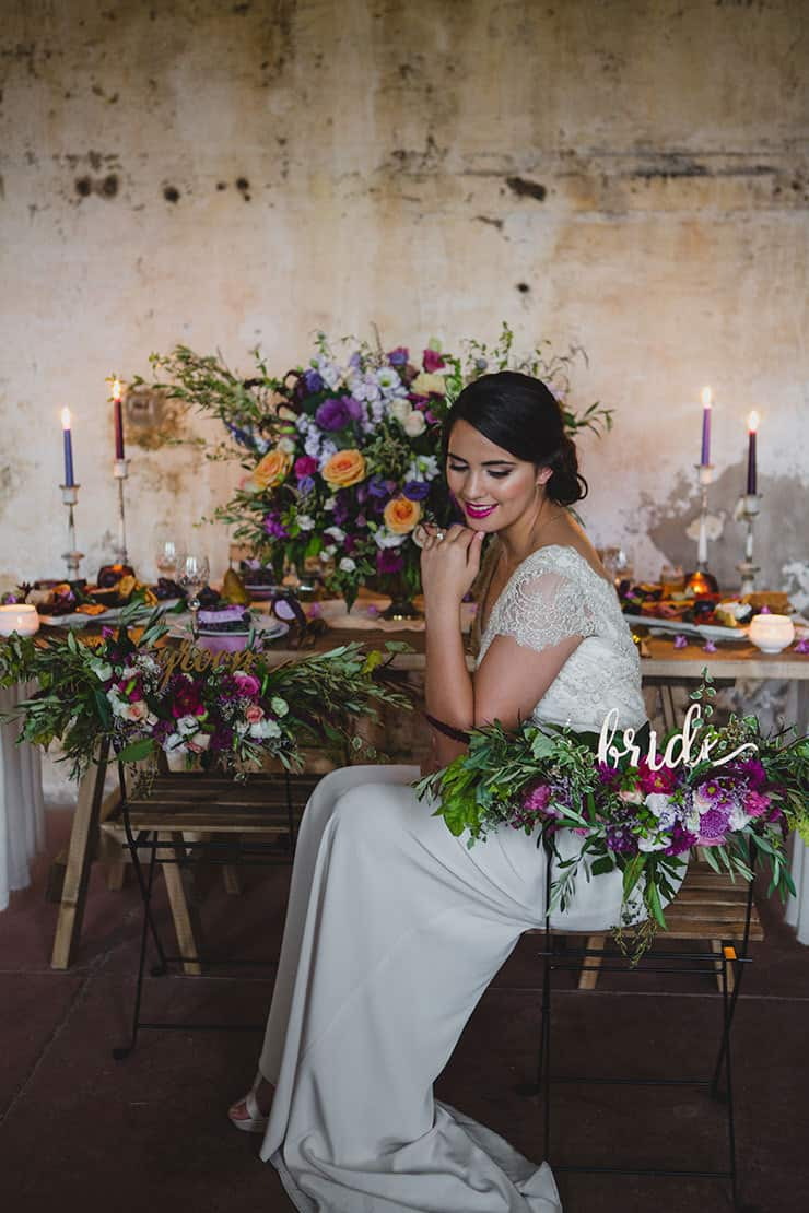 Tuscan-Plum-Wedding-Inspiration-Reception-Bride-2