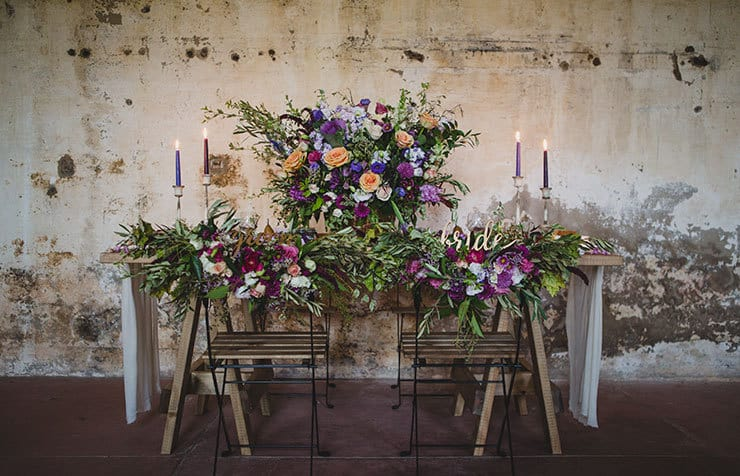 Tuscan-Plum-Wedding-Inspiration-Reception-Table