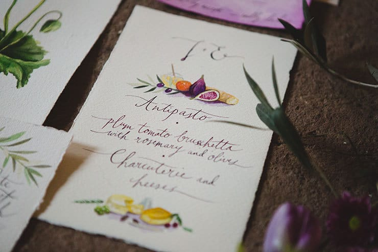Tuscan-Plum-Wedding-Inspiration-Stationery-3