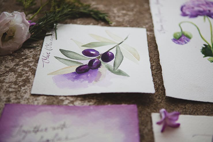 Tuscan-Plum-Wedding-Inspiration-Stationery