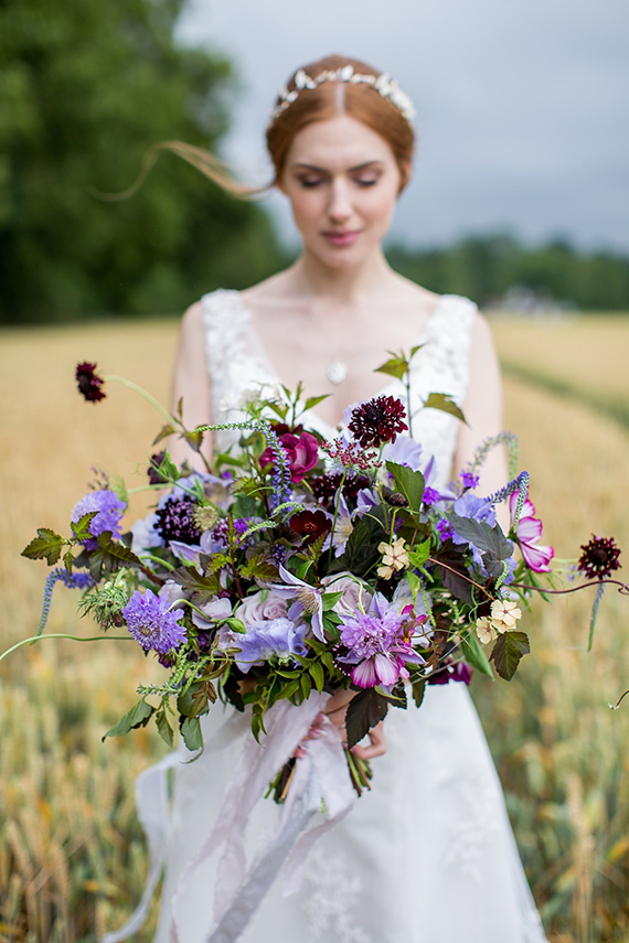 Ultra Violet wedding bouquet | Katherine Ashdown Photography via Whimsical Wonderland Weddings