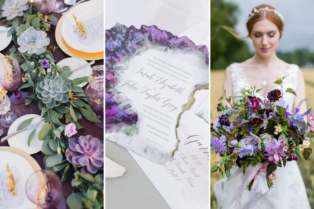 Ultra Violet, Navy & Gold Wedding Inspiration