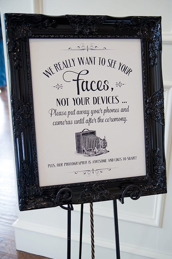 Unplugged Wedding Ceremony Sign | Brittany Barclay