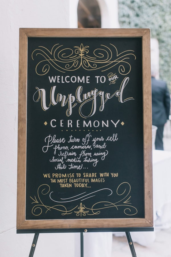 Unplugged Wedding Ceremony Sign | Jonas Peterson