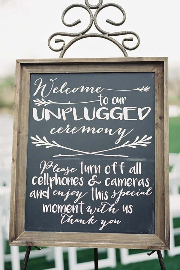 Unplugged Wedding Ceremony Sign | Leslie D Photography