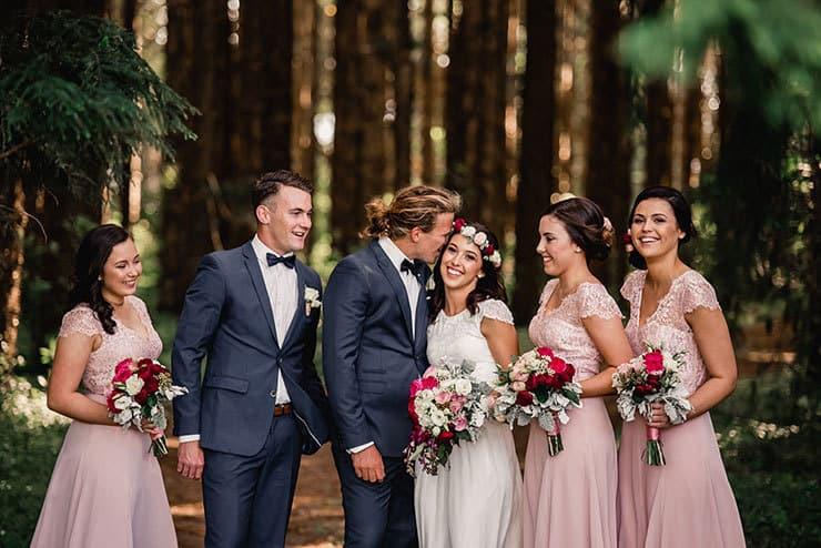 Vibrant-Heartfelt-Bohemian-Wedding-Bridal-Party-Portrait
