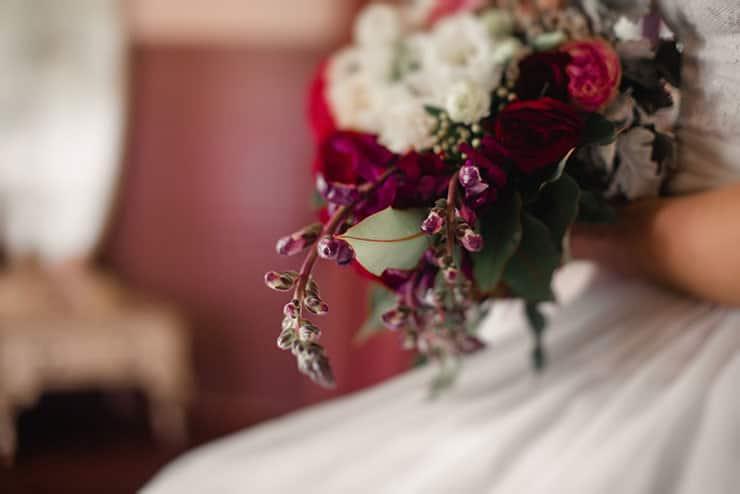 Vibrant-Heartfelt-Bohemian-Wedding-Bride-Bouquet-Detail
