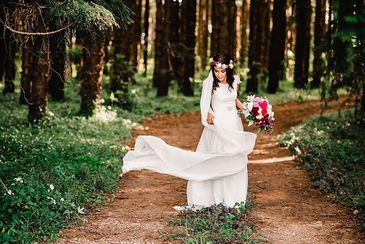 Vibrant-Heartfelt-Bohemian-Wedding-Bride-Dress-Veil