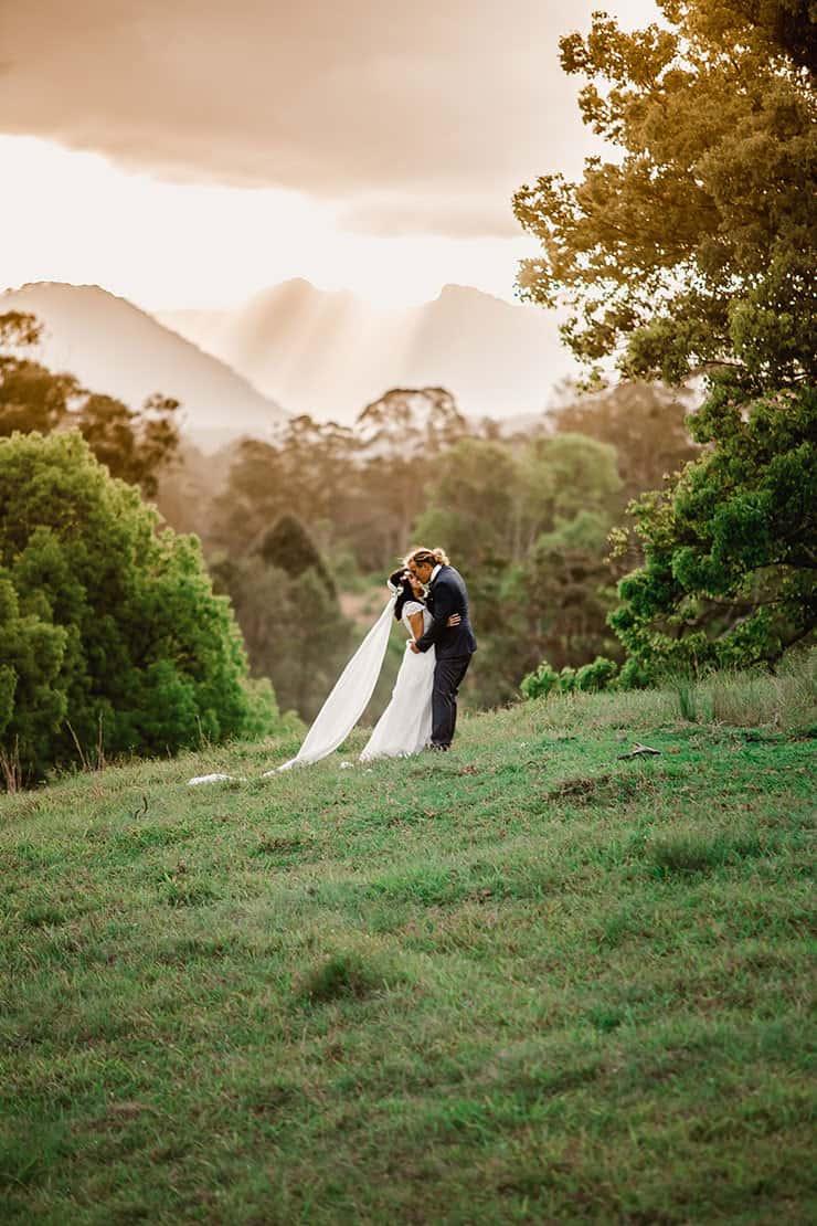 Vibrant-Heartfelt-Bohemian-Wedding-Bride-Groom-Landscape-Portrait-3