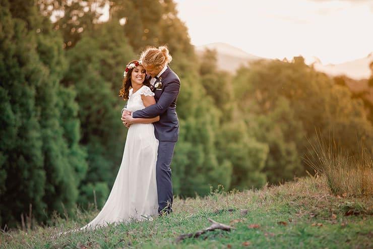 Vibrant-Heartfelt-Bohemian-Wedding-Bride-Groom-Landscape-Portrait-4