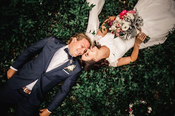 Vibrant-Heartfelt-Bohemian-Wedding-Bride-Groom-Smiling