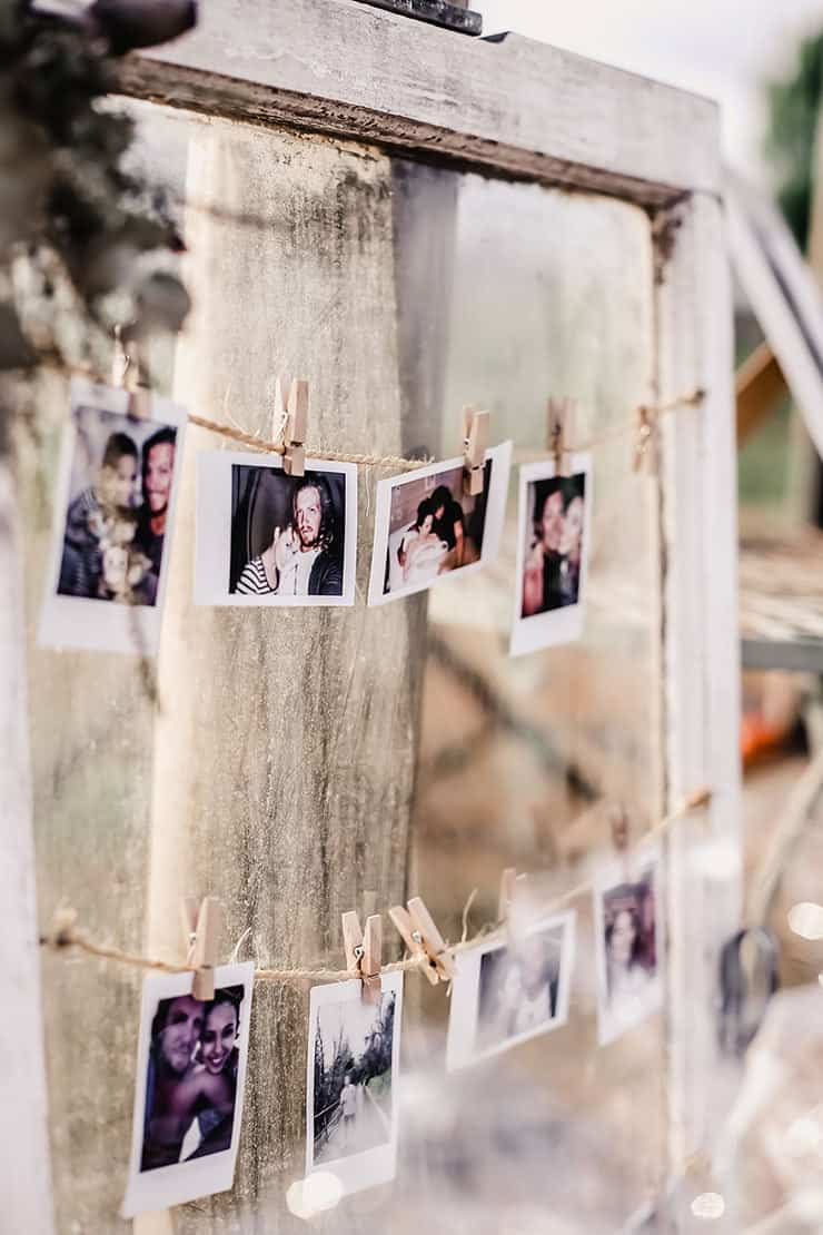 Vibrant-Heartfelt-Bohemian-Wedding-Reception-Photo-Display