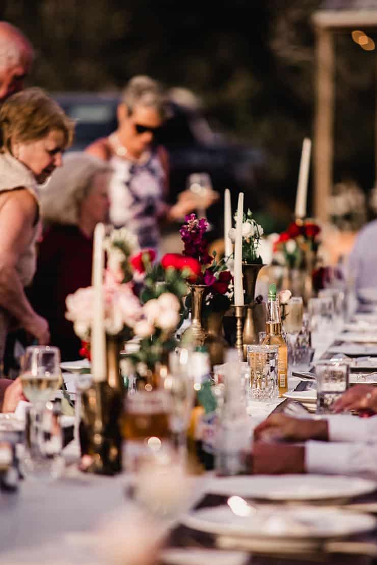 Vibrant-Heartfelt-Bohemian-Wedding-Reception-Table-Setting-Centrepieces