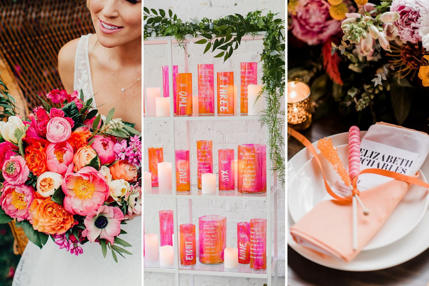 Vibrant Pink & Orange Wedding Inspiration | The Wedding Playbook
