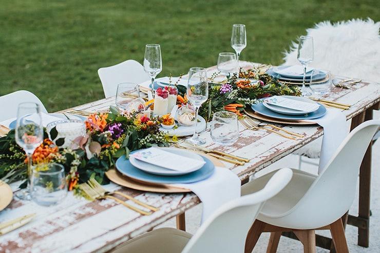 Gorgeous Wedding Reception Centrepiece Ideas   Camilla Kirk Photography