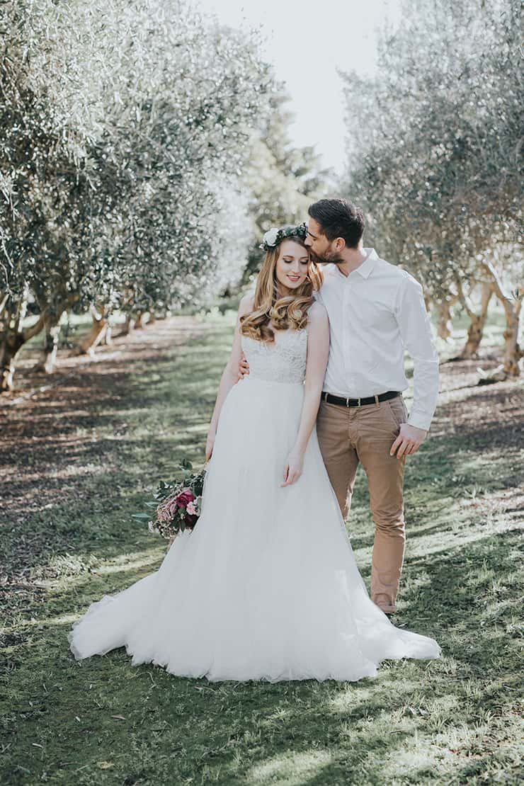 Vintage Boho Wedding Inspiration in a Blossoming Almond Grove