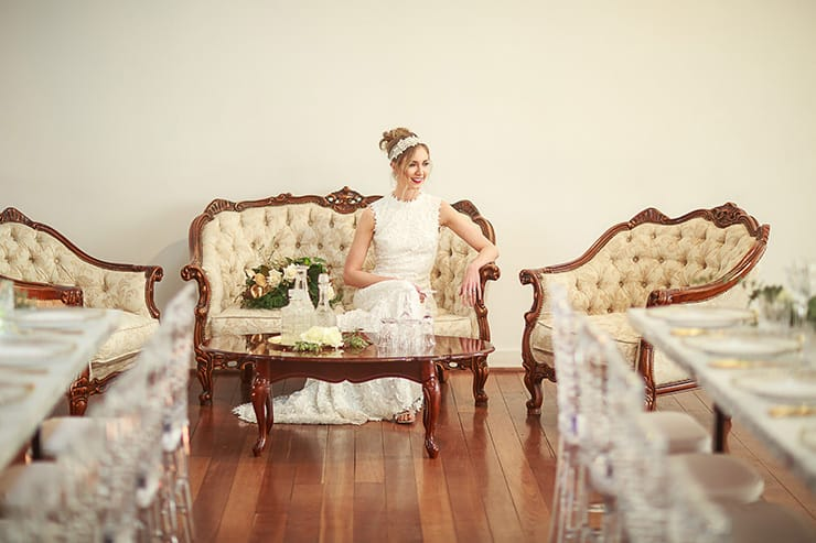 Vintage Glam Wedding Inspiration | Jason Soon Photography