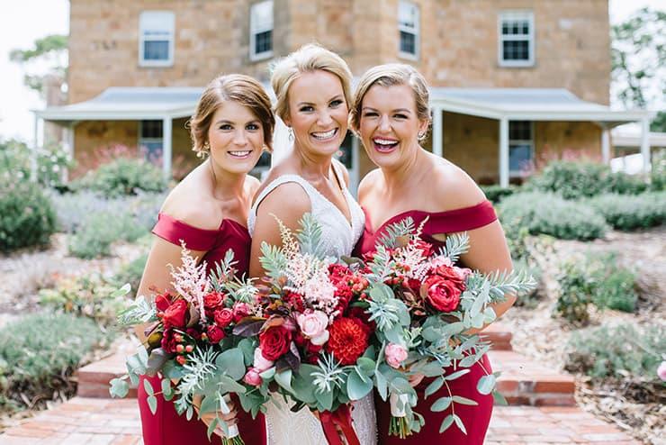 Chloe & Sam's Vintage Homestead Wedding In Ruby Red