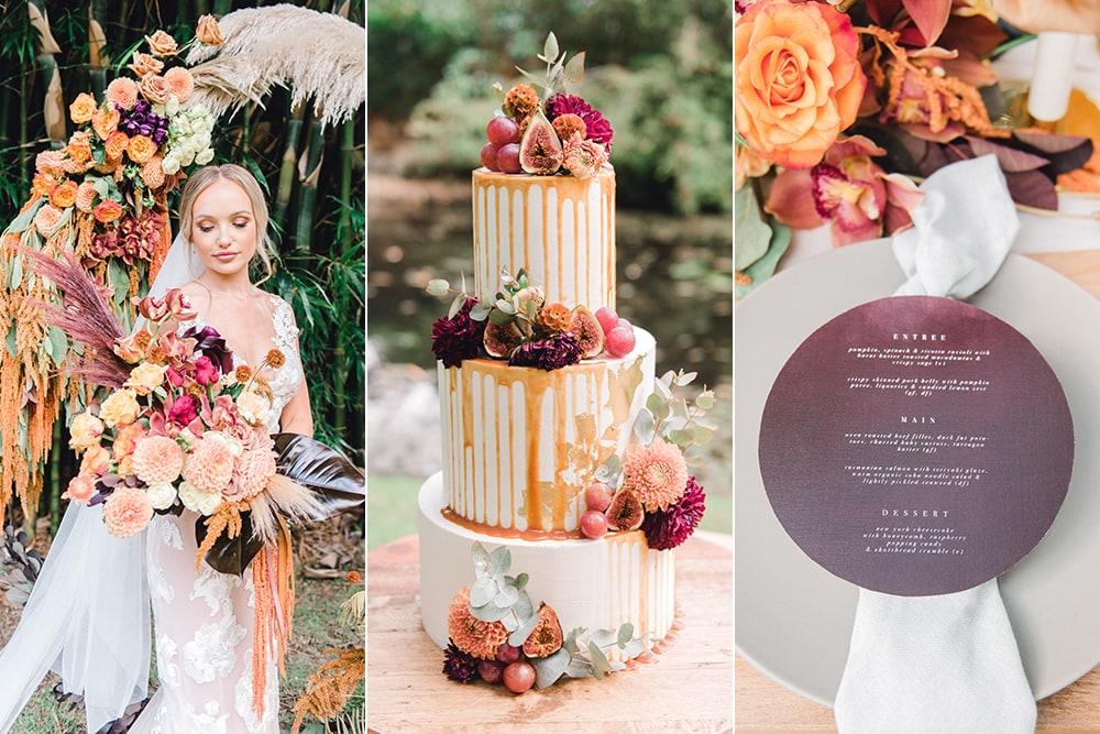 Violet Sunset Wedding Inspiration | Photography: Joy Philippe Photography