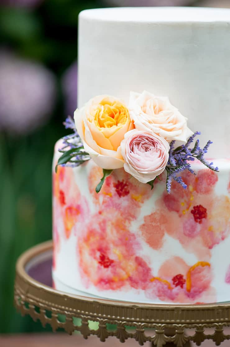 watercolour garden wedding inspiration