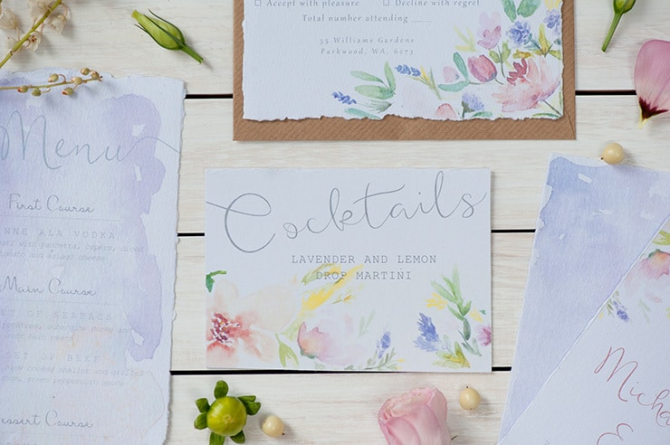 Watercolour-Garden-Wedding-Inspiration-Stationery-Cocktails