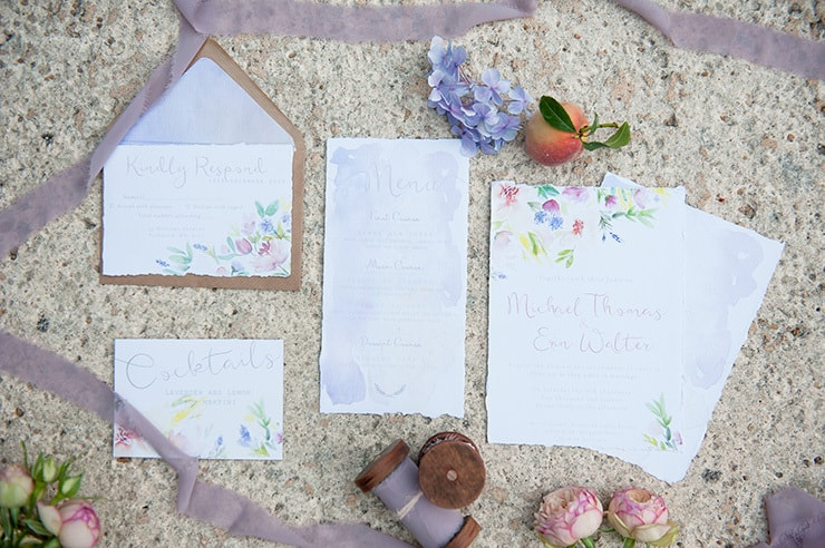 Watercolour-Garden-Wedding-Inspiration-Stationery