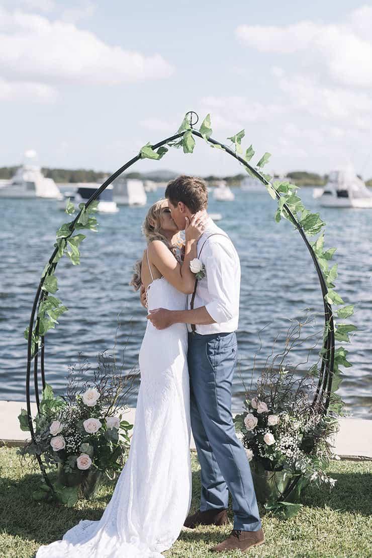 Waterfront DIY Surprise Wedding | Barefoot & Bearded