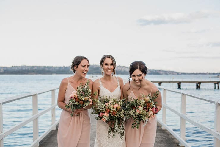 A Waterside DIY Wedding in a Neutral Palette | Lola Images