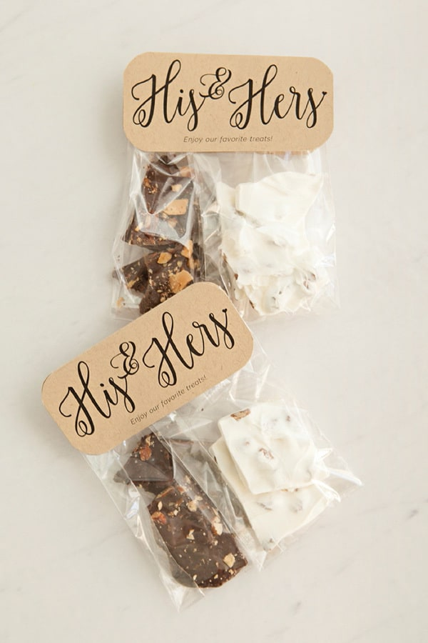 Wedding DIY Tips | Chocolate Bark Favours via Something Turquoise