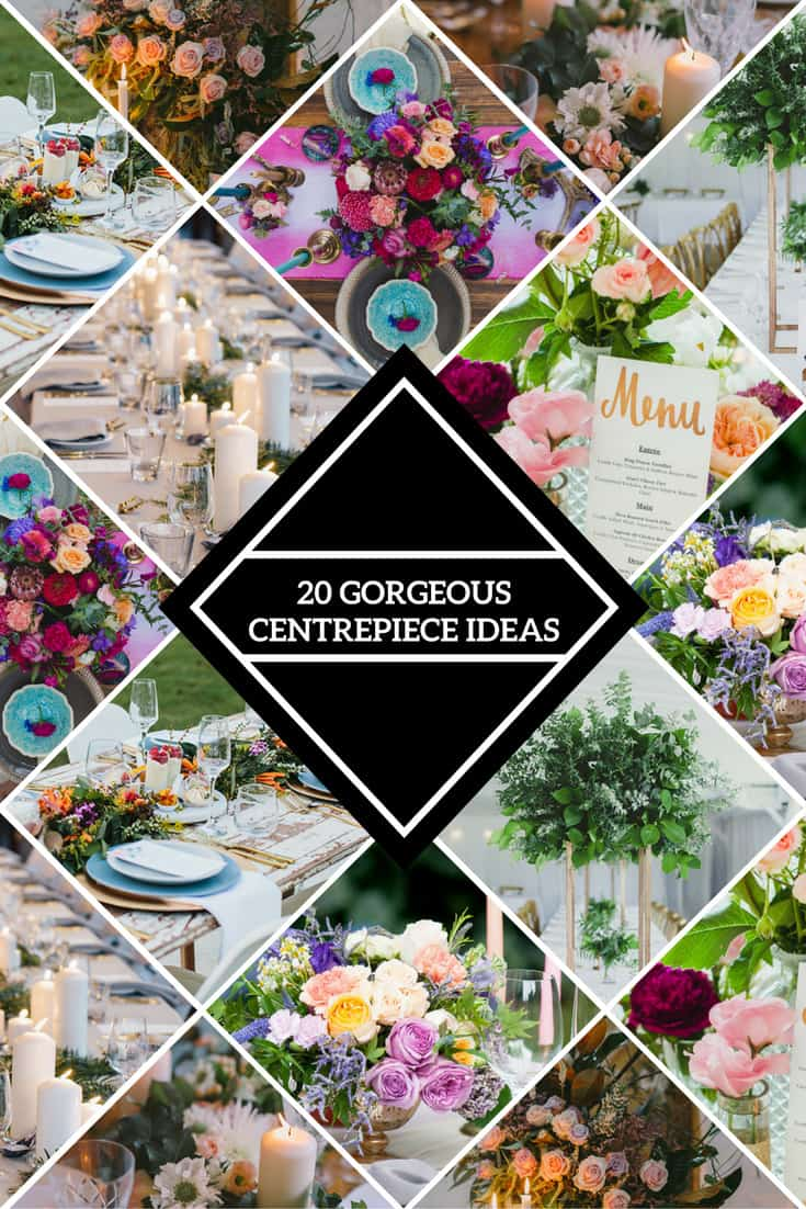 Gorgeous Wedding Reception Centrepiece Ideas