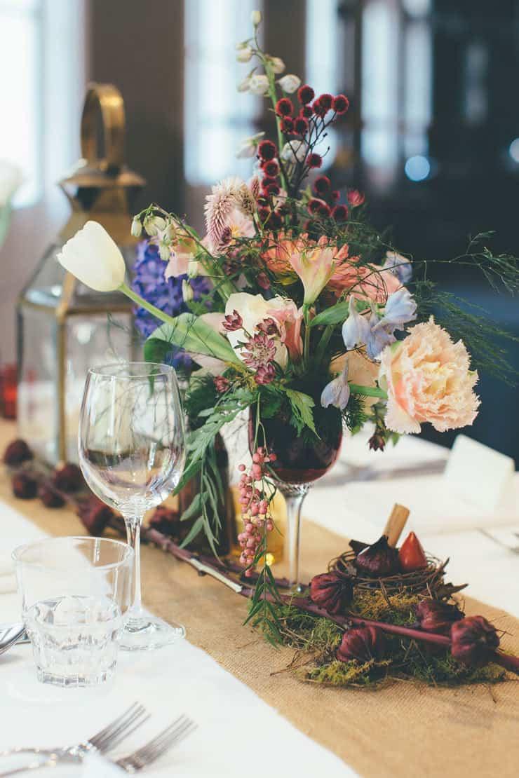Wedding-Reception-Ideas-Wow-Your-Guests-Bohemian-Luxe-Centrepiece