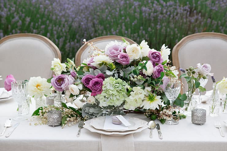 Wedding-Reception-Ideas-Wow-Your-Guests-French-Provincial-Lavender-Centrepiece