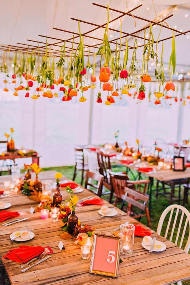 Wedding-Reception-Ideas-Wow-Your-Guests-Red-Orange-Rustic-Tulips-Styling