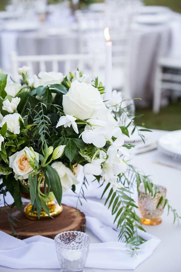 Elegant Garden Wedding Inspiration in White, Gold & Green