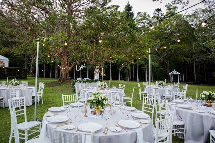 Elegant Garden Wedding Inspiration In White Gold Amp Green