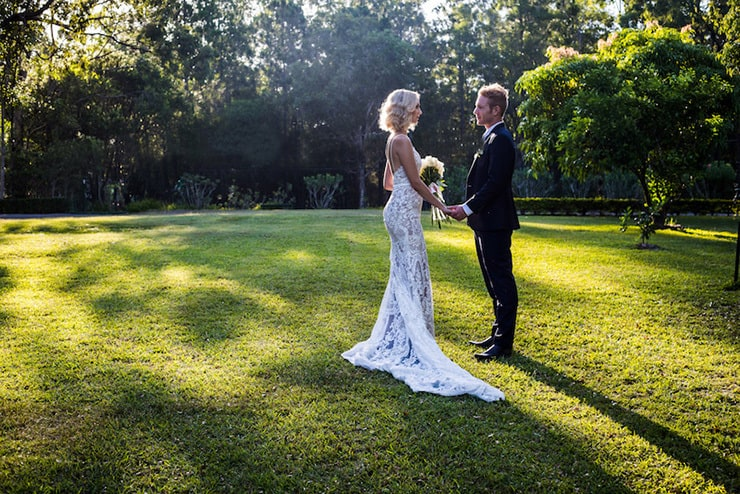 Elegant Garden Wedding Inspiration in White, Gold and ...