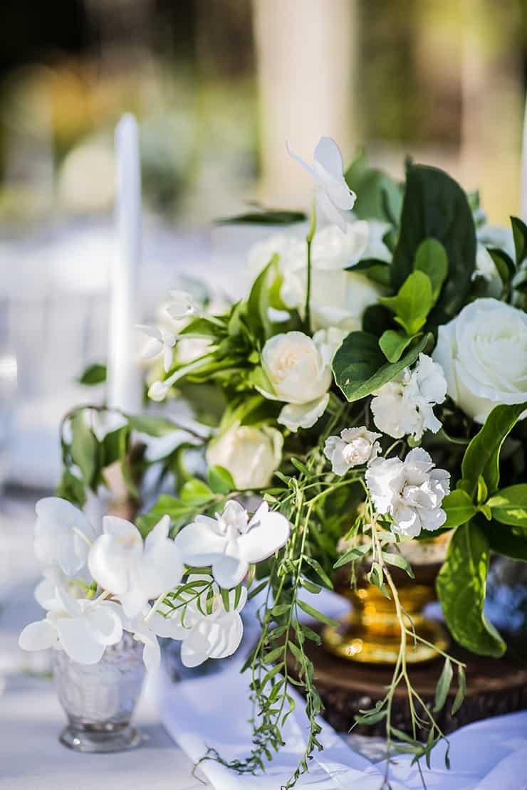 Elegant Garden Wedding Inspiration In White Gold And Green
