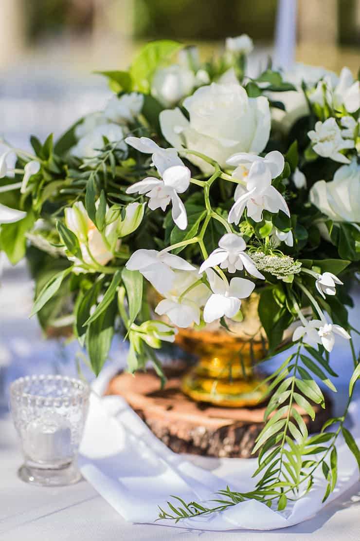 Elegant Garden Wedding Inspiration In White Gold And