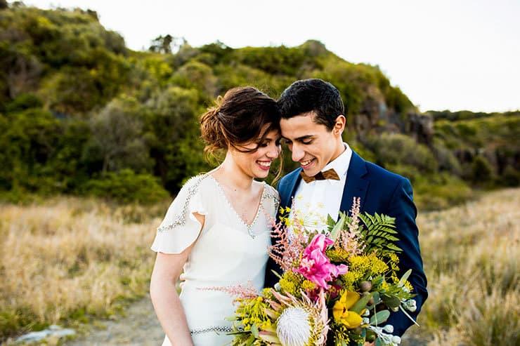 Wild and Bright Boho Wedding Inspiration   Ainslee Burke Photography